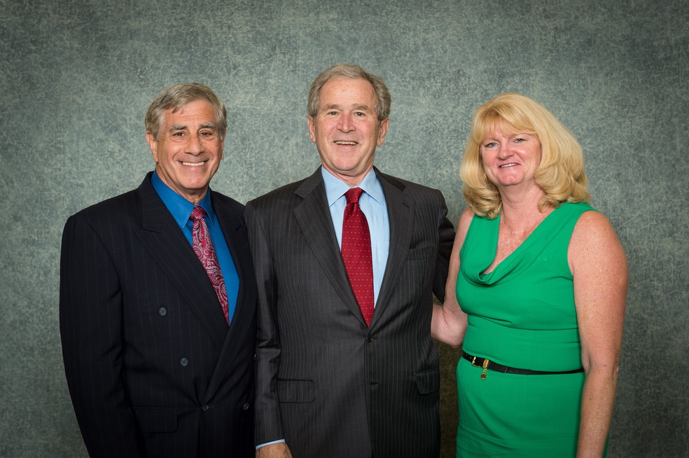 Ira and Kim with President George W. Bush